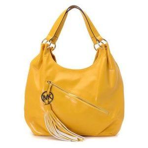 Michael Kors Chain Large Yellow Hobo